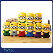 Factory wholesale cheap minion 3d silicone case for apple iphone 4 4s 5 5s