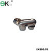 Stainless steel 3 way adjustable elbow handrail pipe connector