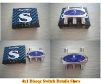 2015 high performance diseqc switch supermax 4 in 1hot sale in USA market