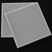 Sound Absorbed Fireproof Perforated Aluminum Sheet Metal Ceiling Tiles / Board