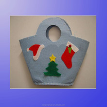 high quality color wool felt shopping bag for girls