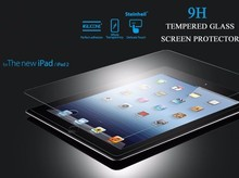 Newest anti -scratch anti -shock 0.26mm/0.33mm clear tempered glass screen protector for iPad 3