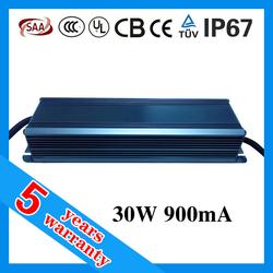 30w 36v 900ma led driver constant current waterproof IP67 30W 900mA led driver dc 36V