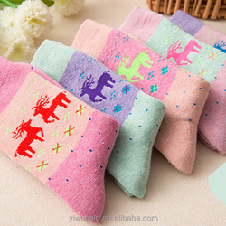 jacquard cartoon warm thickening terry towelling socks women