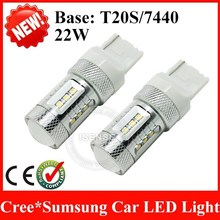 High power T20 7440 7443 W21/5W 22W 80W CREES Sumsung 12V led light for car
