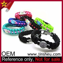 Wholesale Promotional Custom Football Team Logo Paracord Bracelet