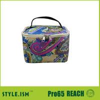 Multi Flower Coated floral Make Up Bag Cosmetic Case