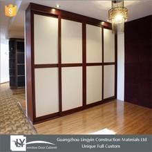 2015 customized wooden sliding wardrobe door dersign bedroom furniture
