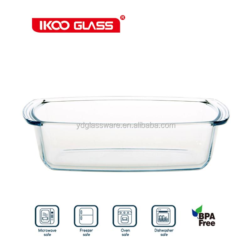 Vidrio resistente al calor para hornear molde para pizza pan