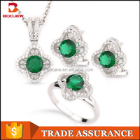 Indian bridal jewelry sets green crystal glass jewelry set real stone jewelry for girls