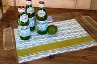 Clear acrylic Serving Tray with insert, Personalized Lucite Trays, acrylic oblong tray