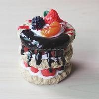 Resin artificial food model fake cake models for display