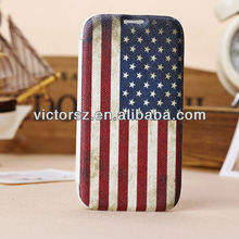 For Samsung Galaxy S IV Flag Case, USA Flag Leather Mobile Phone Case