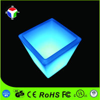 Color changing waterproof plastic led flower pot for decoration