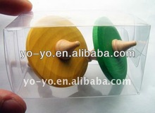 Wood spinning top toys