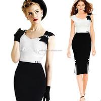 2016 new design women sleeveless midi pencil dresses vestidos casuales woman