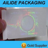 transparent hologram sticker sheet 3d label maker