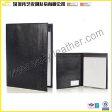 Leather Portfolio Deluxe Black Writers With Inside Pocket Or Ganizer Office Leather Notebook Stationery