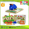 hot selling zoo bus toy educational funny toys OEM wooden vehicles bus for kidsEZ5113
