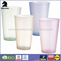 BSCI PP plastic high colorful Reusable Transparent cup