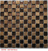 Glass Mix Resin Mosaic for Backsplash yellow and brown color