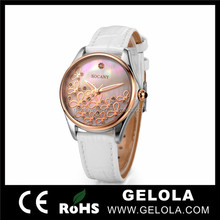 Date and Day Flip Clock Fashion Women Watches