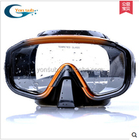 matal coating diving mask for men