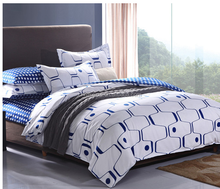 Popular high quality cotton Brushed Denim bedding sets(quilt cover/bed sheet/pillowcase) from china