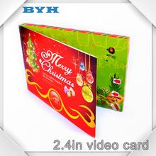 Popular 2.4 pulgadas 5 * 7 tamaño TFT tarjeta de vídeo, lcd vídeo folleto tarjetas-para venta
