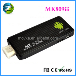 Cheapest MK809 iii quad core mini PC 3D android 4.2 Tv dongle (Tv stick)