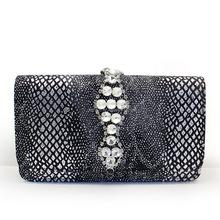 2015 new design Swarovski crystal decorated PU bag ladies' evening bag