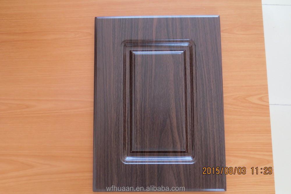 Wholesale wood grain pvc thermofoil cabinet door for Wood grain kitchen doors