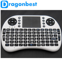 In Stock 2.4G Rii RC6 Mini i8 Wireless Keyboard with Touchpad 2.4g air mouse keyboard Best Remote for Android TV Box