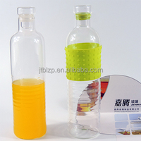wholesale glass water bottles double wall glass water bottle Portable Reusable Glass sports bottle / glass bottle with tea infus