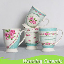 China supplier porcelain fine new bone china with decal , heart mug