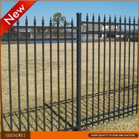 Modular powder coated metal fence panels(supplier)