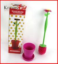302366 flower shaped plastic toilet brush