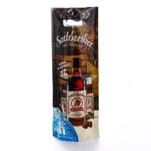 Luxury Easy-Carrier Beverage PackagingThree-side Sealed Aluminum Foil Gift Wine Bag 100