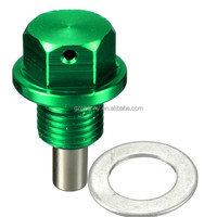 New M12x1.25 Magnetic Engine Oil Pan Drain Filter Adsorb Plug Bolt w/ Washer GREEN/A lot of colors available