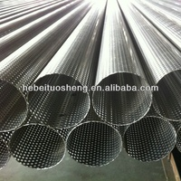 Punched Stainless steel Perforated Metal Mesh Tube for filter
