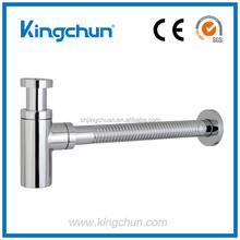 China Manufacturer Cheap Brass Chrom Round Style Bathroom Bottle Trap