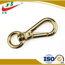 High Quality Silver Gold Round Swivel Key Chain Snap Hook