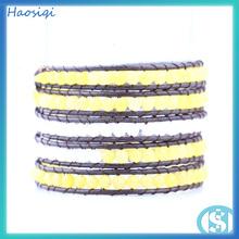 HSQ-0368a Handmade charm jewelry wrap with high quality bracelet latest design