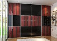 wooden sliding door wardrobe armoire custom smart home furniture made