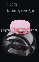 300ml PET Candy Bottle with Temper Proof Cap, Small Plastic Food Jar Free Samples Chinese Factory