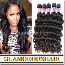 Reliable quality natural black 100g/bundle natural wave natural brazilian hair pieces