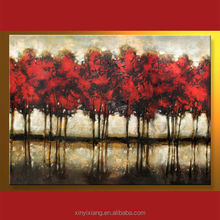 Handmade tree oil painting pictures landscape