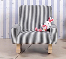 wide rocking chair strip color chair /wooden rocking chair