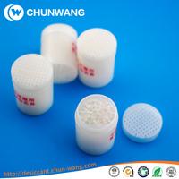 Moisture treatment of medical grade silica gel desiccant