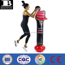 Promotional customized inflatable basketball hoop portable office basketball hoop indoor basketball hoop